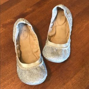 **SALE** BANDOLINO | Gold and silver ballet flats